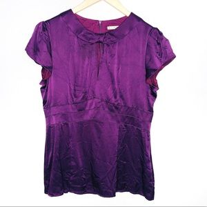 Nanette Leopore 100% Silk Purple Blouse | Sz 10